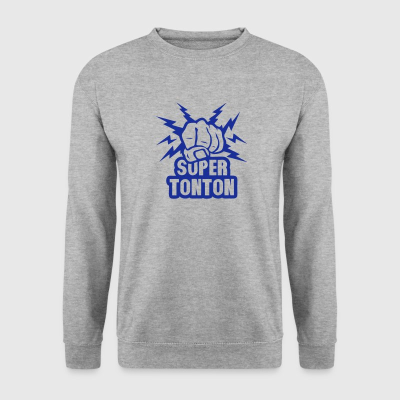 super tonton poing fermer force eclair Sweat-shirts - Sweat-shirt Homme