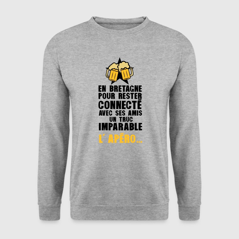 bretagne connecte amis apero alcool Sweat-shirts - Sweat-shirt Homme