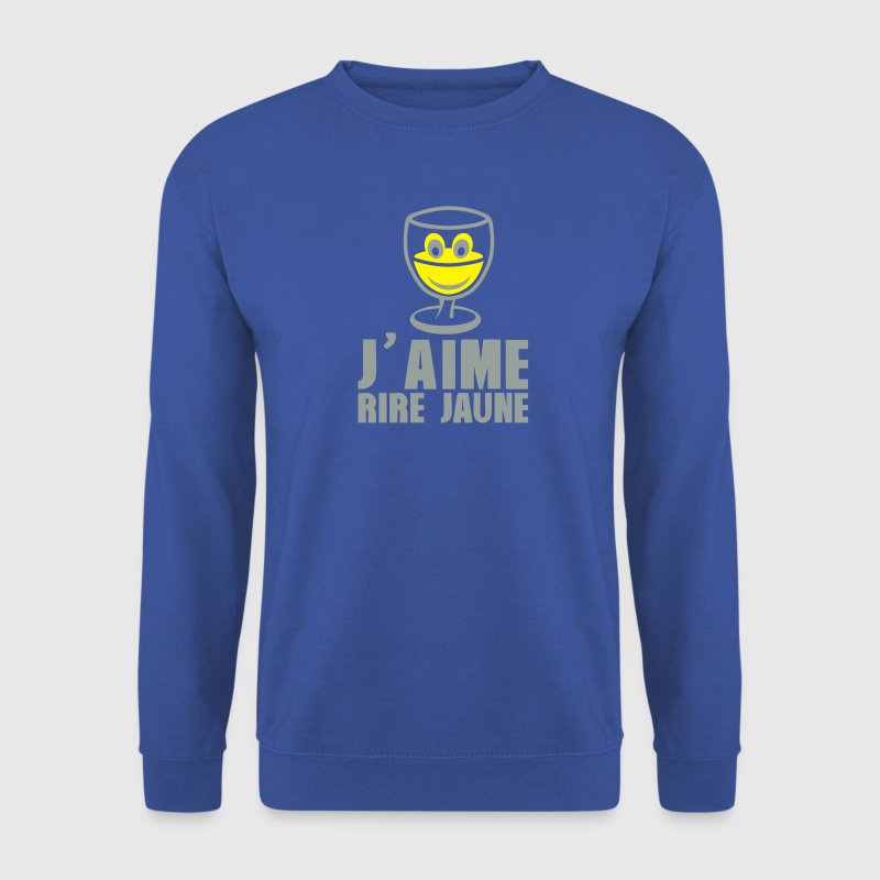 j aime rire jaune pastis alcool humour Sweat-shirts - Sweat-shirt Homme