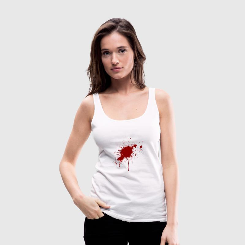 Blood spatter from a bullet wound Tops - Women's Premium Tank Top