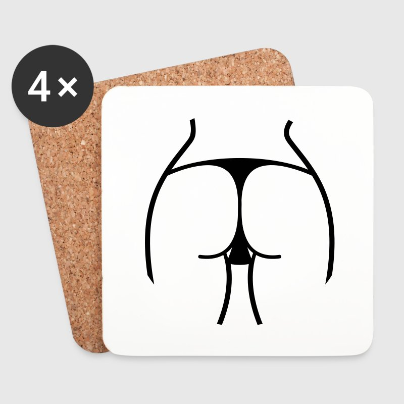 Hot ass of a woman in thong on beach Mugs & Drinkware - Coasters (set of 4)