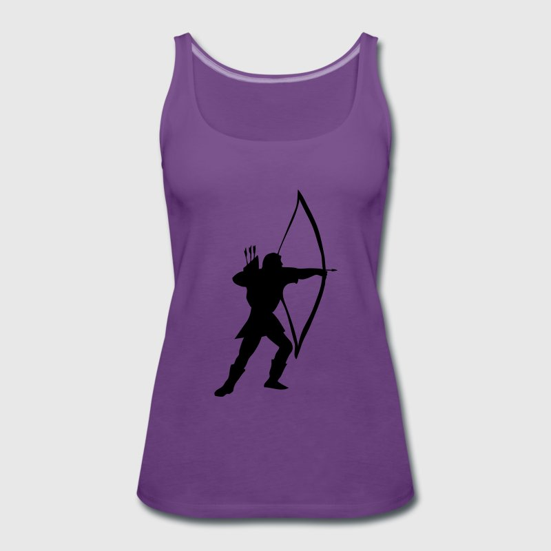 Lemon longbow archer medieval  Tops - Women's Premium Tank Top