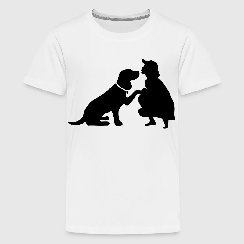 Dog with mistress Tee shirts - T-shirt Premium Ado