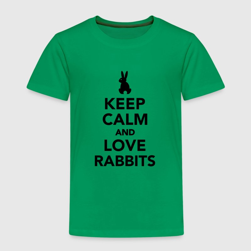 Keep calm and love rabbits T-Shirts - Kinder Premium T-Shirt