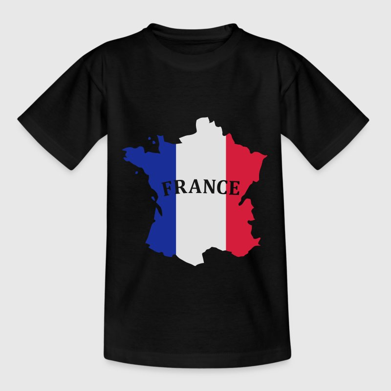 Karte Frankreich, France Map, Flag Map France T-Shirts - Kinder T-Shirt