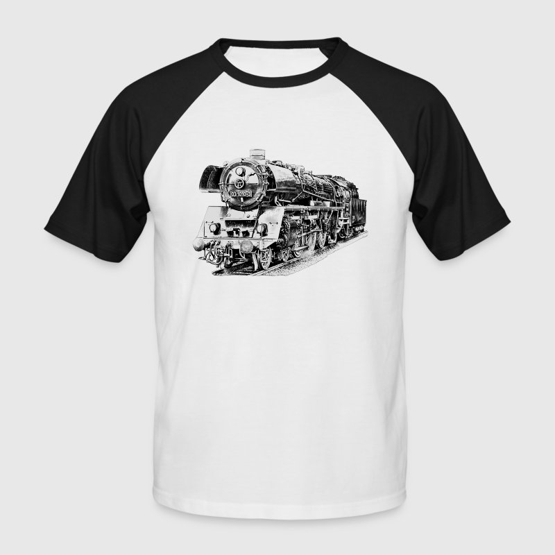 steam locomotive Tee shirts - T-shirt baseball manches courtes Homme
