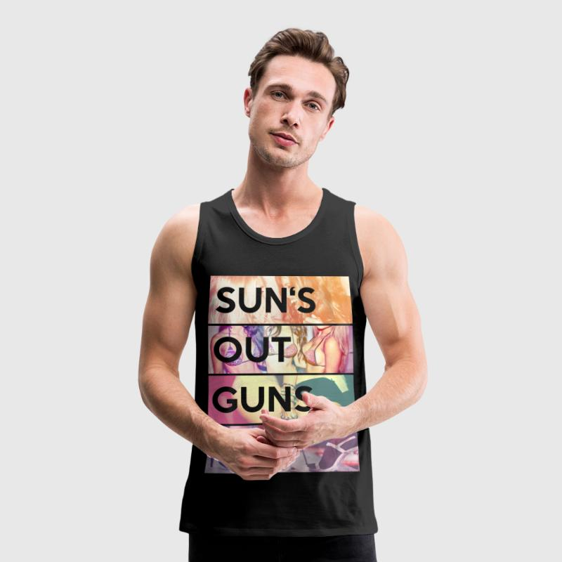 Suns out guns out Tank topy - Tank top męski Premium