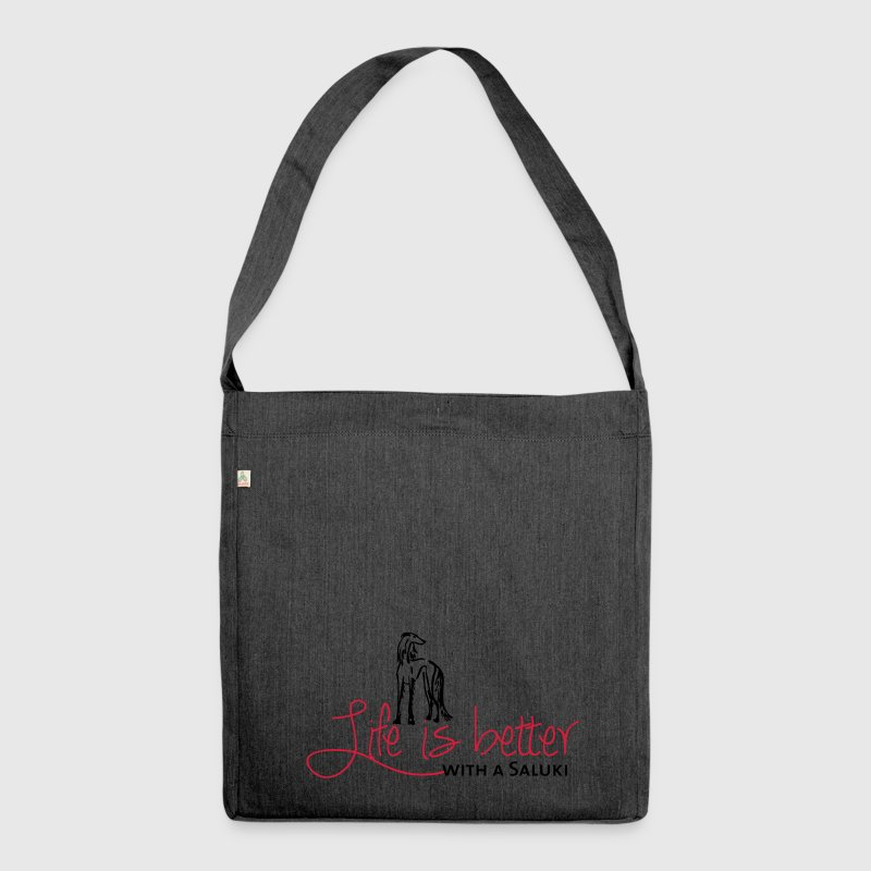Life is better - Saluki Bags & Backpacks - Shoulder Bag made from recycled material