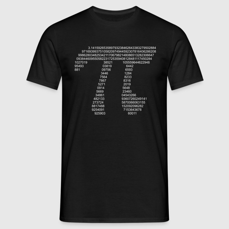Pi (dark) T-Shirts - Men's T-Shirt