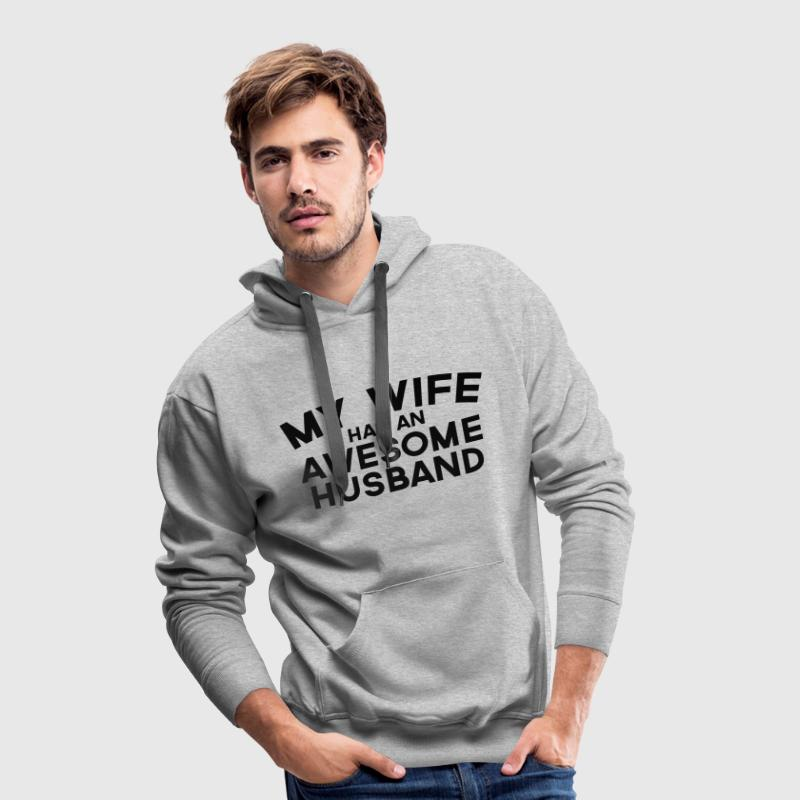 Wife Awesome Husband  Puserot - Miesten premium-huppari