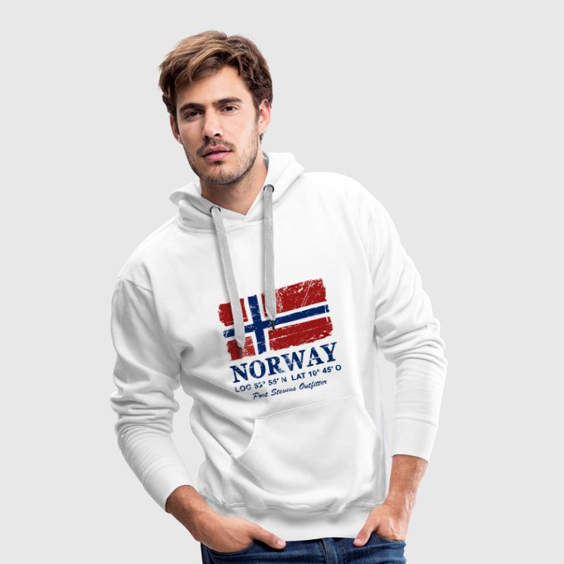 Norway Flag - Vintage Look  Hoodies & Sweatshirts - Men's Premium Hoodie
