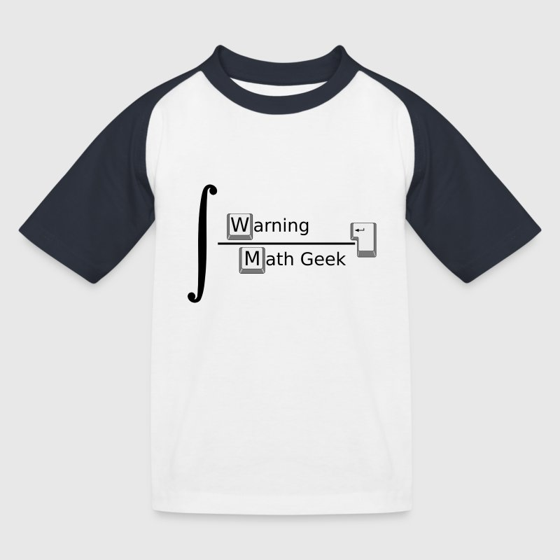 Warning Math Geek - T-shirt baseball Enfant