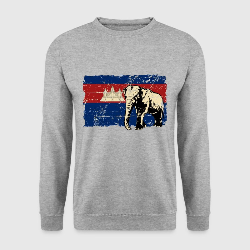 Cambodia - Elephant - Vintage Look  Sweat-shirts - Sweat-shirt Homme