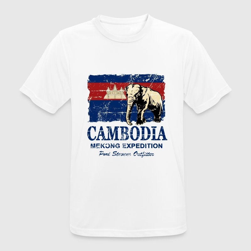 Cambodia - Elephant - Vintage Look  Tee shirts - T-shirt respirant Homme