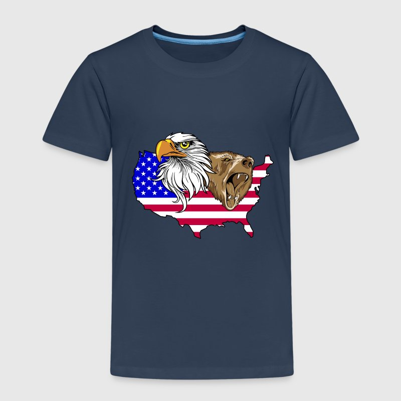 Kinder T-Shirt America Adler Bär Grizzly Eagle - Kinder Premium T-Shirt