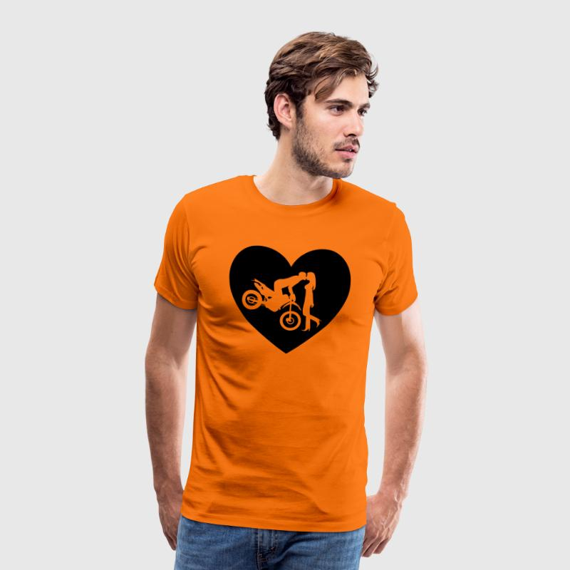 Motorcycle Enduro Cross kiss T-Shirts - Men's Premium T-Shirt