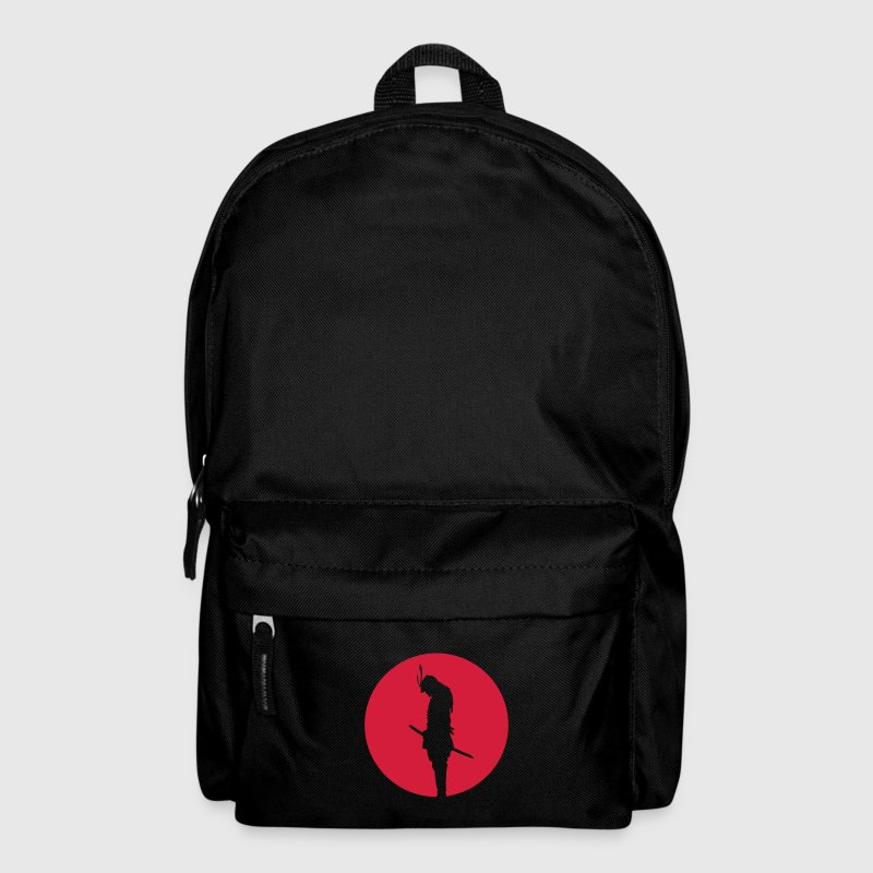 Japan Samurai Warrior - silhouette (Japan flag) Bags & Backpacks - Backpack