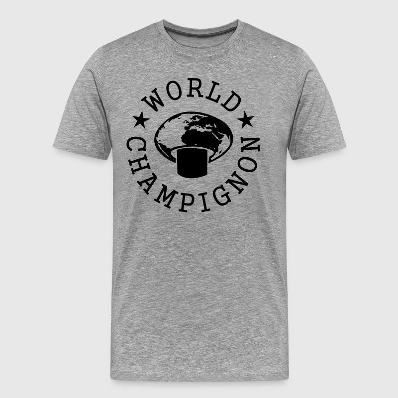 World Champignon T-shirts - Herre premium T-shirt