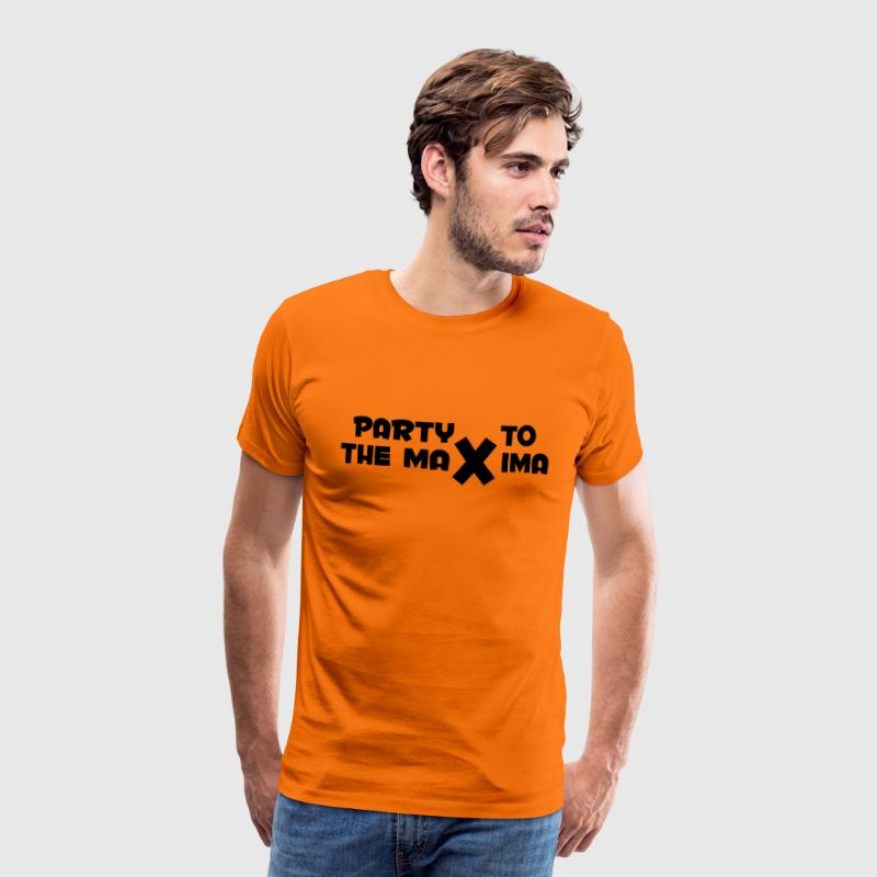 Koningsdag: Party to the Maxima T-shirts - Mannen Premium T-shirt