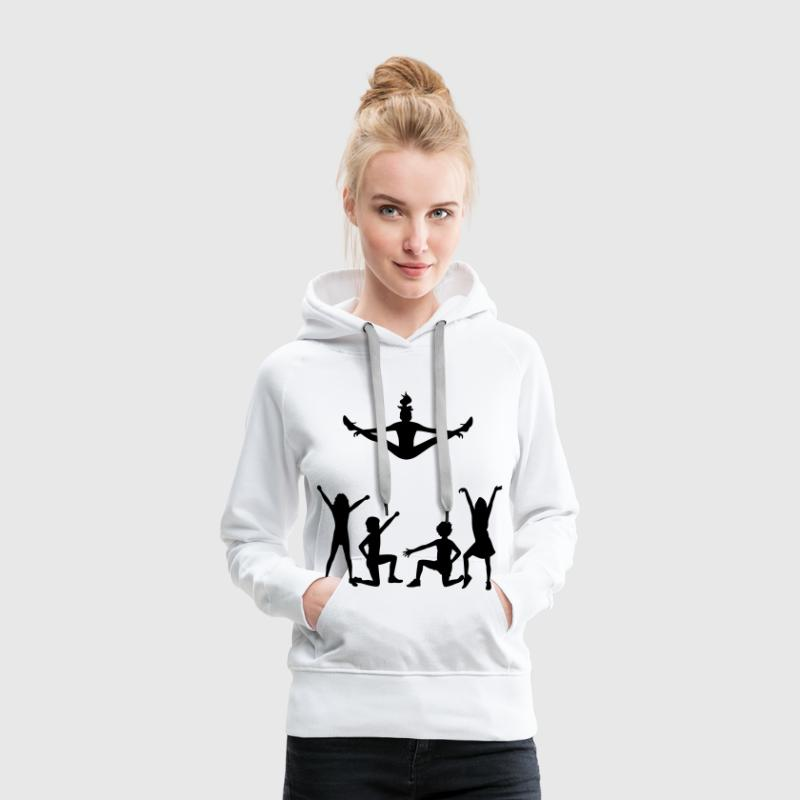Un groupe de pom-pom girls Sweat-shirts - Sweat-shirt à capuche Premium pour femmes