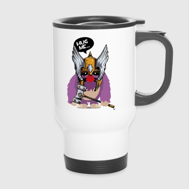 Cuddly monster with Thor's hammer as a Viking Mugs & Drinkware - Travel Mug