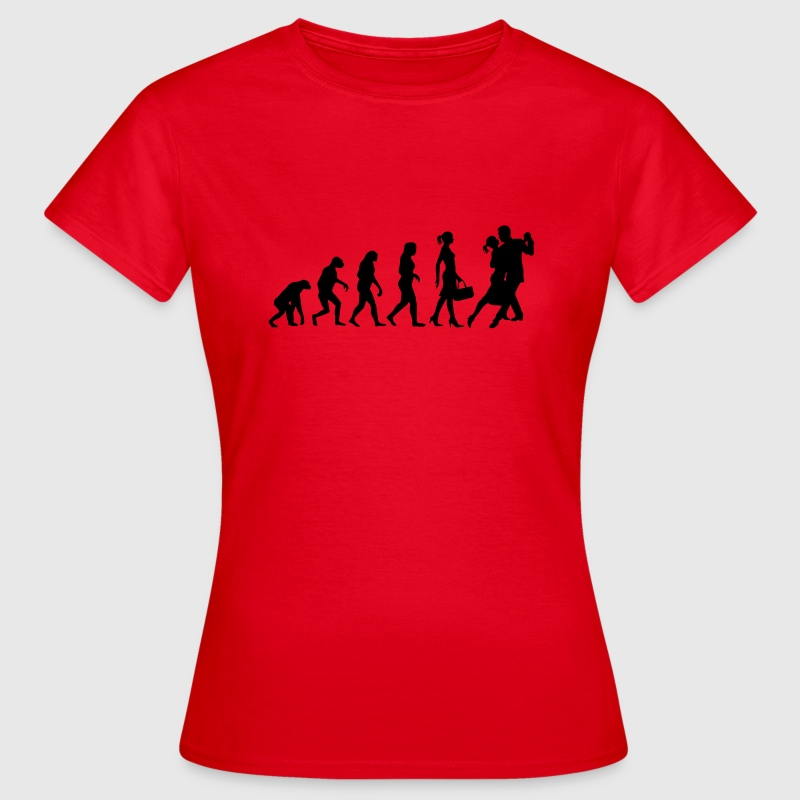 Evolution of Ladies Tango T-Shirts - Frauen T-Shirt