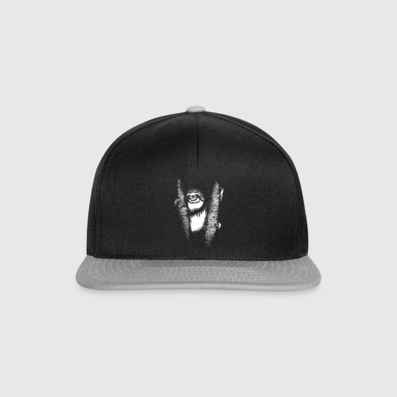 Black/grey Sloth Caps & Hats - Snapback Cap