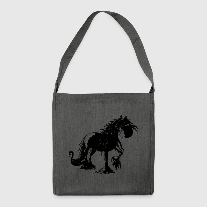 Happy Friesian Horse Bags & Backpacks - Shoulder Bag made from recycled material