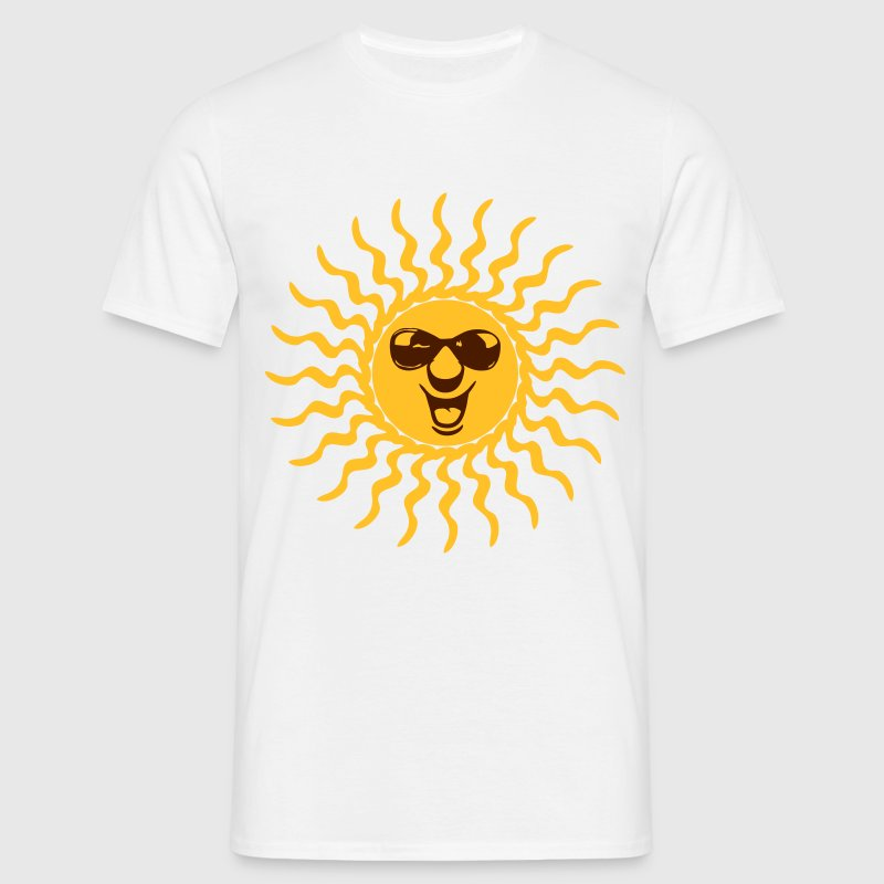 sun sunbeam summer vacation sunglasses T-Shirts - Men's T-Shirt