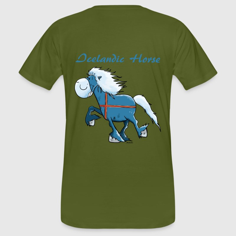 Happy Icelandic Horse T-Shirts - Men's Organic T-shirt