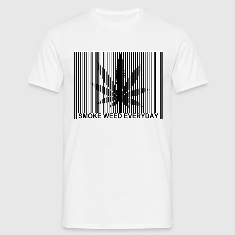code barre smoke weed Tee shirts - T-shirt Homme