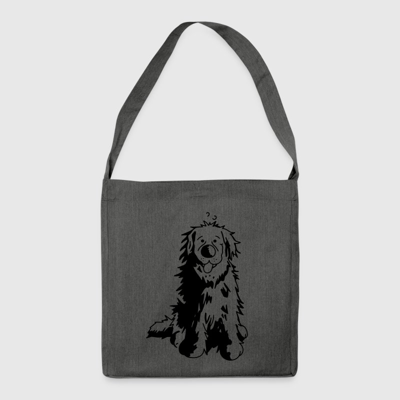 Cute Newfoundland Dog  Bags & Backpacks - Shoulder Bag made from recycled material