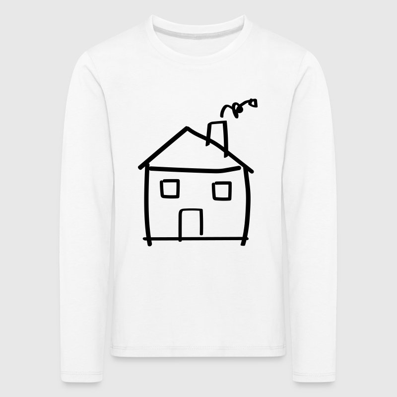 House drawing Long Sleeve Shirts - Kids' Premium Longsleeve Shirt