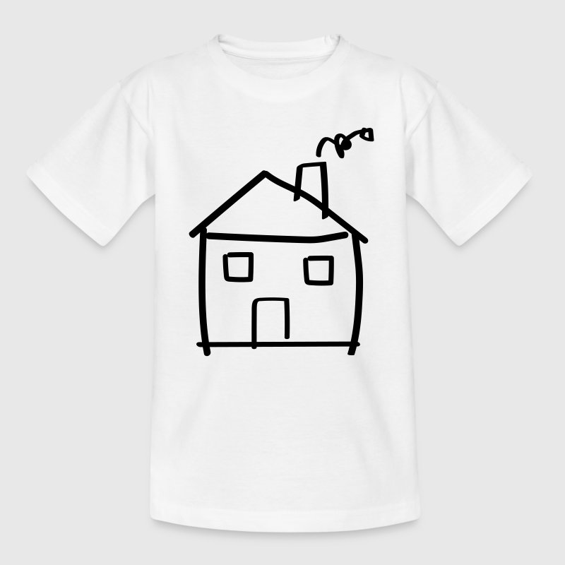 House drawing Shirts - Kinderen T-shirt