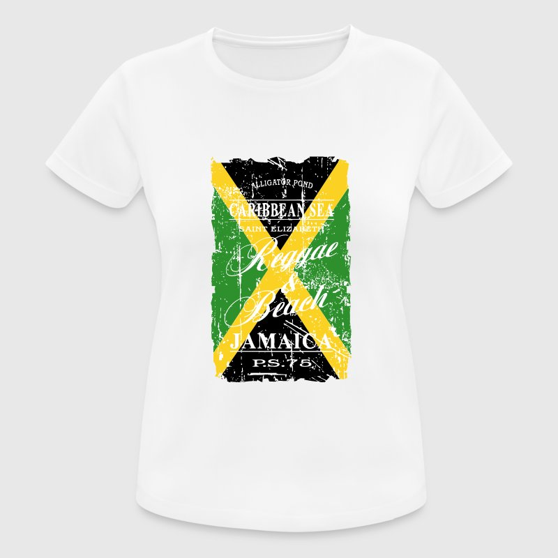 Jamaica Flag - Vintage Look T-Shirts - Women's Breathable T-Shirt