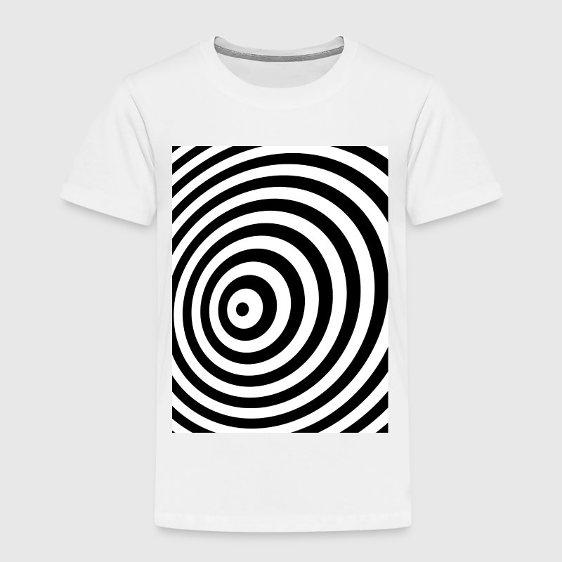 Minimi Geometry Illusion in Black & White OP-taide Paidat - Lasten premium t-paita