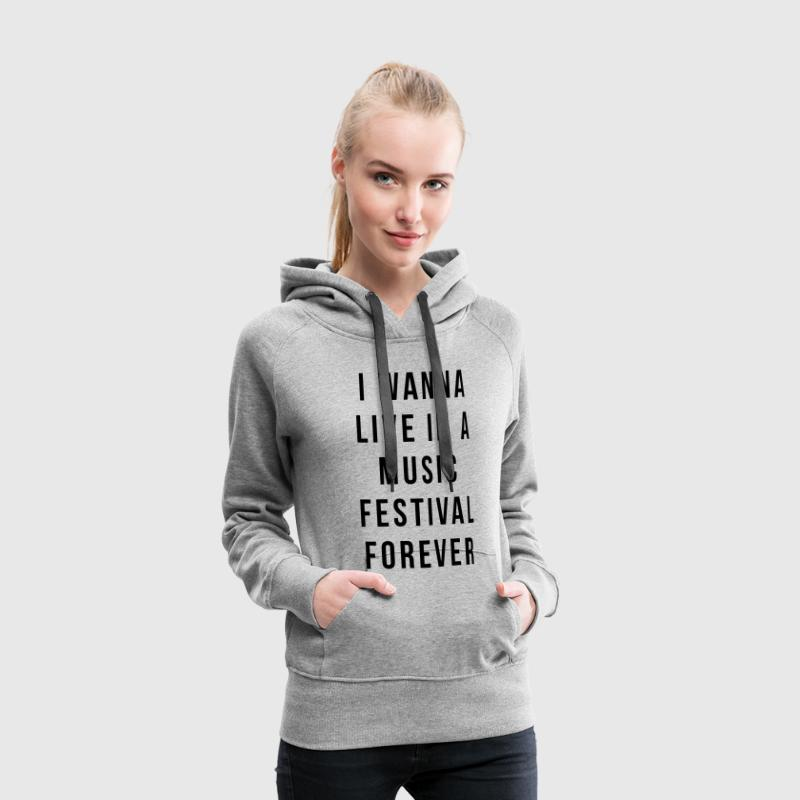 Live Music Festival  Sweat-shirts - Sweat-shirt à capuche Premium pour femmes