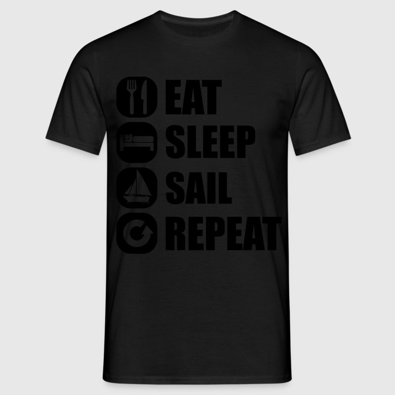 eat_sleep_sail_repeat_12_1f T-Shirts - Men's T-Shirt