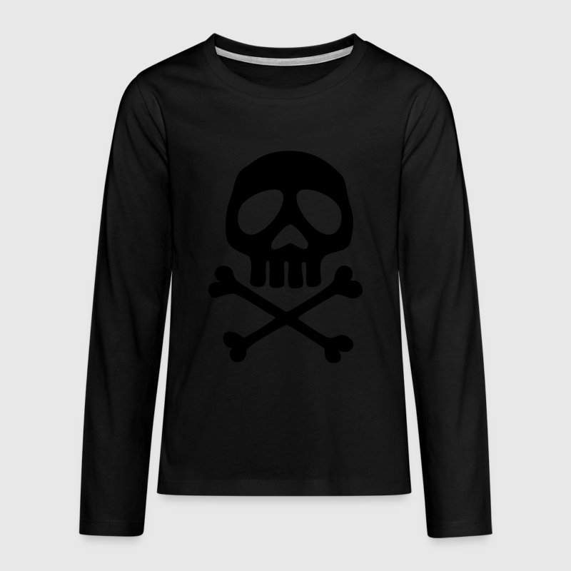Skull, Totenkopf, Pirat, Anime, Space Captain Lang - Teenager Premium Langarmshirt