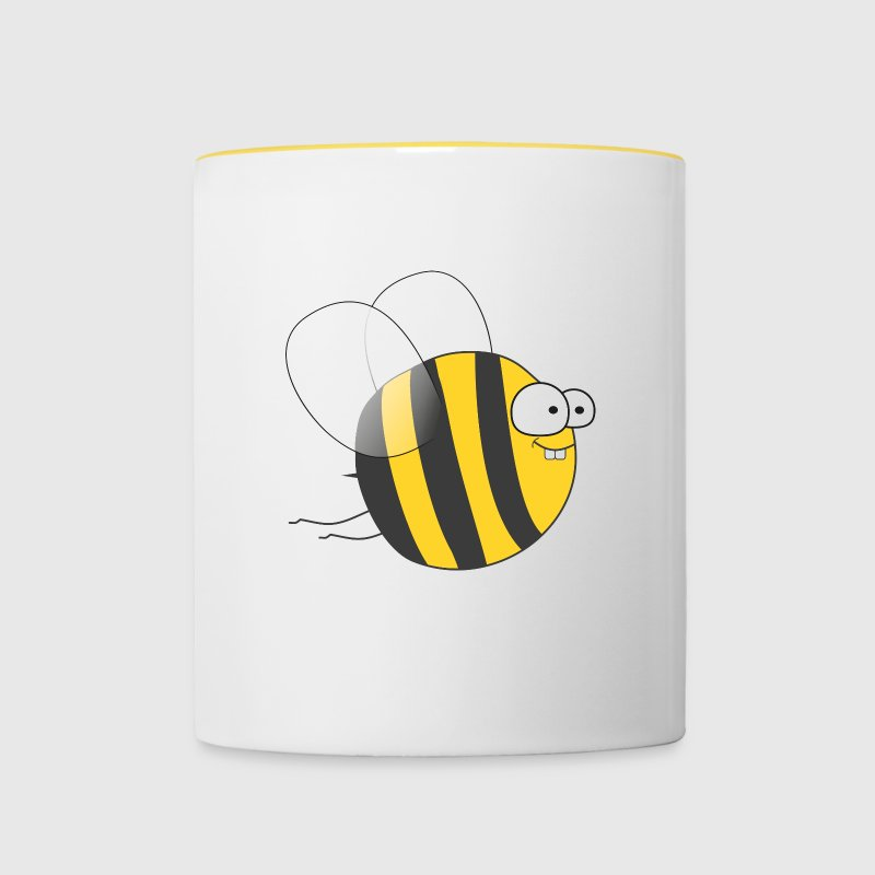 Cool & Crazy Funny Bee / Bumble Bee (Sweet & Cute) Bouteilles et Tasses - Tasse bicolore