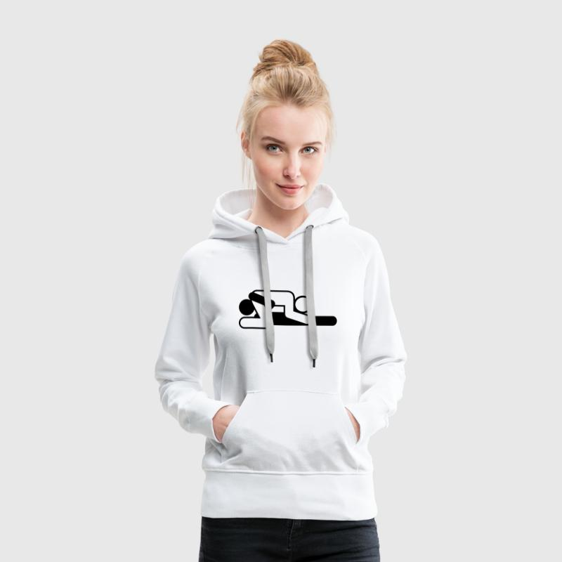 A couple in 69 position Hoodies & Sweatshirts - Women's Premium Hoodie