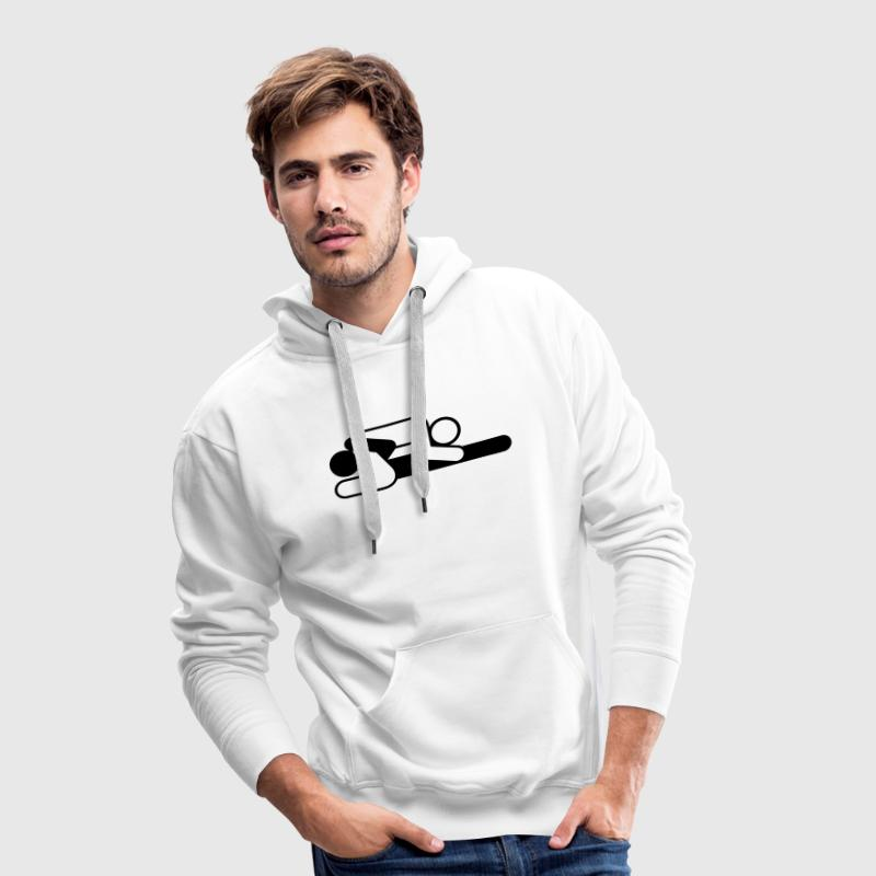 A couple in 69 position Hoodies & Sweatshirts - Men's Premium Hoodie
