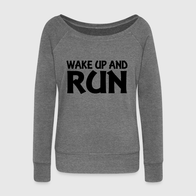 Wake up and run Sweat-shirts - Pull Femme col bateau de Bella