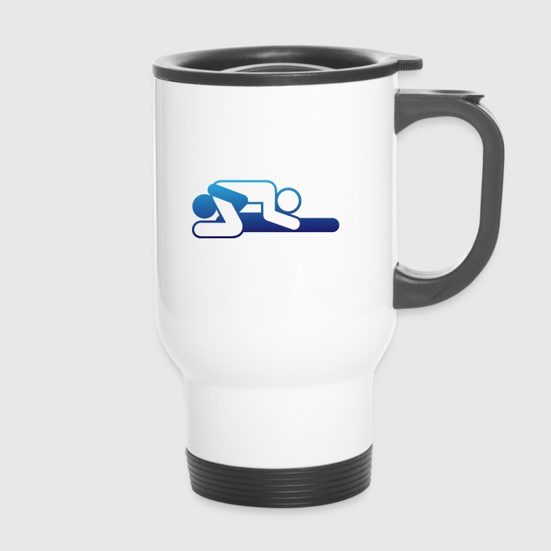 A couple in 69 position Mugs & Drinkware - Travel Mug