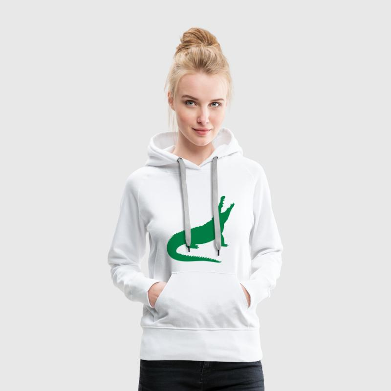 Un crocodile Sweat-shirts - Sweat-shirt à capuche Premium pour femmes