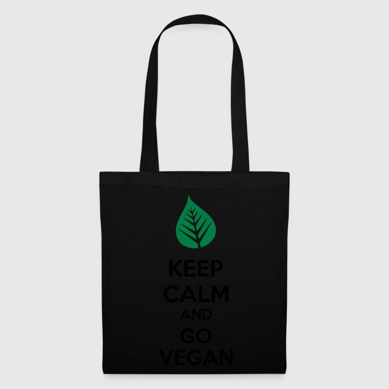 Keep Calm And Go Vegan Borse & zaini - Borsa di stoffa