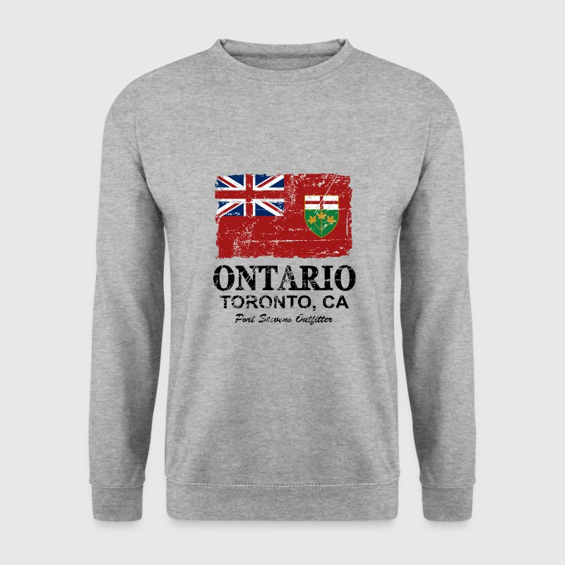 Ontario Flag - Canada - Vintage Look Sweat-shirts - Sweat-shirt Homme