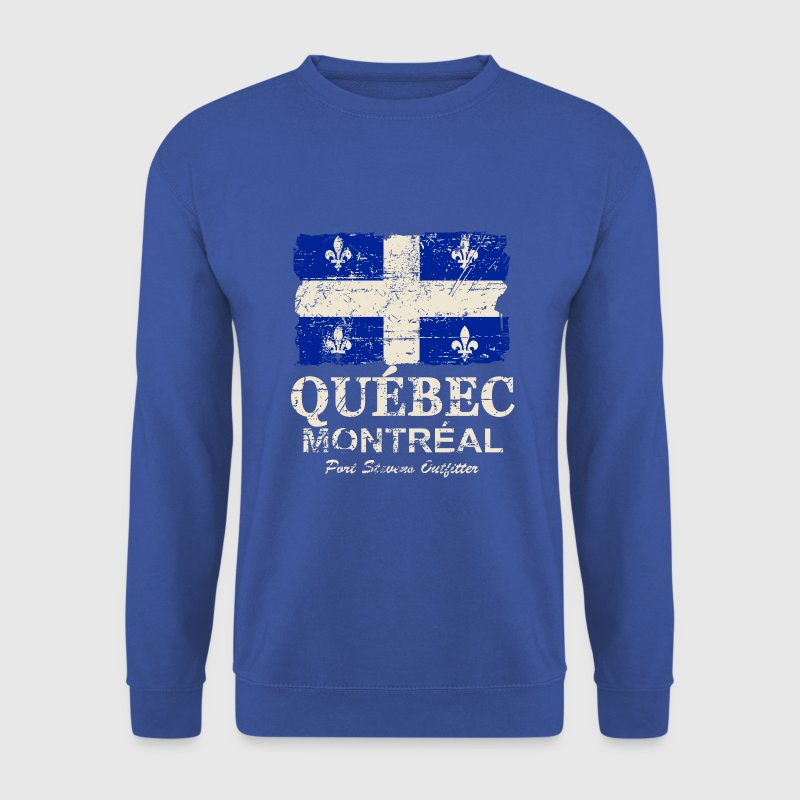 Québec  Flag - Canada - Vintage Look Hoodies & Sweatshirts - Men's Sweatshirt