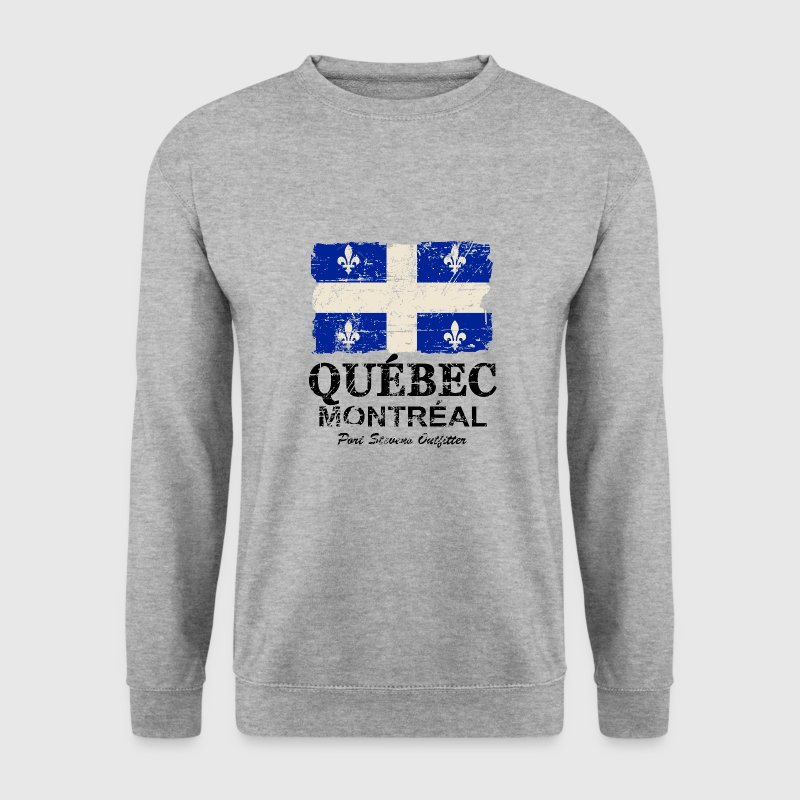 Québec  Flag - Canada - Vintage Look Sweat-shirts - Sweat-shirt Homme