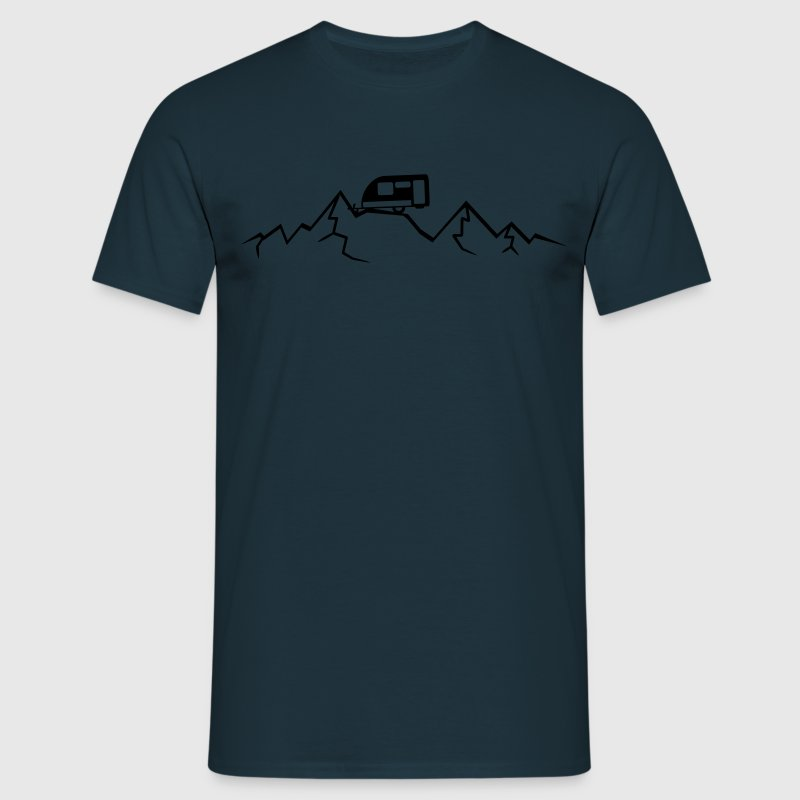 Mountains Alps Caravans above mountains at T-Shirts - Men's T-Shirt